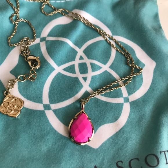 e59f9696b64e8a Kendra Scott Jewelry | Pink Pendant Necklace Teardrop | Poshmark
